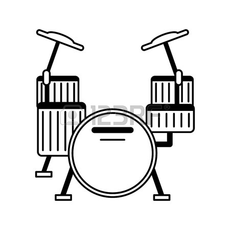 450x450 Taiko Drum Musical Instrument Icon Image Vector Illustration