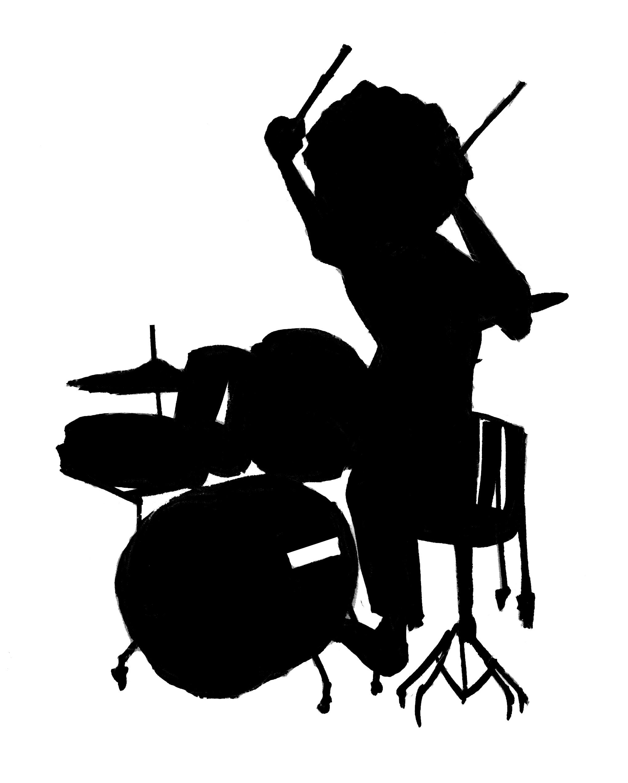 2039x2541 Unique Drum Set Silhouette Drummer File Free