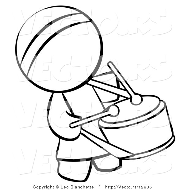 600x620 Vector Of Chinese Drummer Person