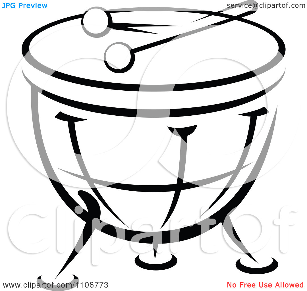 1080x1024 Drum Black And White Clipart