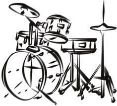 Drum Set Drawing