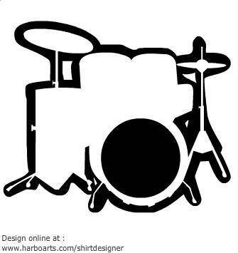 335x355 Drum Kit Clipart