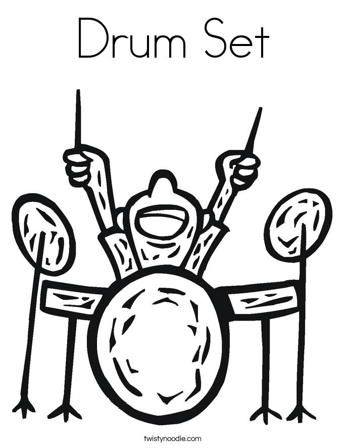 685x886 Drum Set Coloring Page