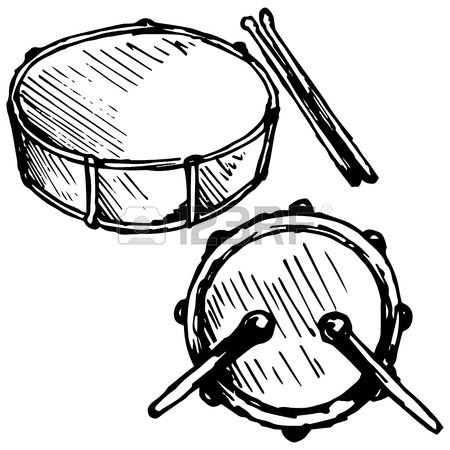 450x450 Drum Set Illustration In Doodle Style Royalty Free Cliparts