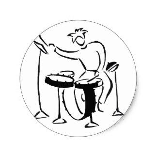 324x324 Drum Set Stickers Zazzle