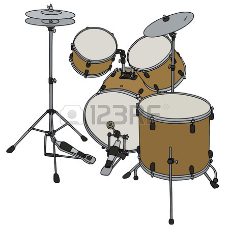 450x450 Hand Drawing Of A Classic Military Drum Royalty Free Cliparts