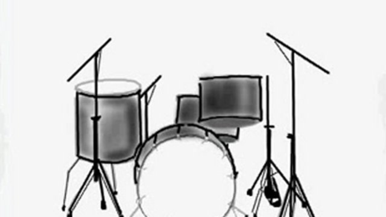 1280x720 How To Draw A Drum Set