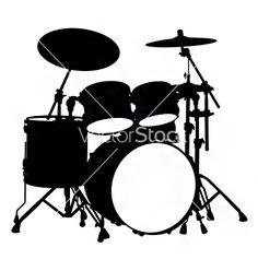236x248 Drum Set Drawing