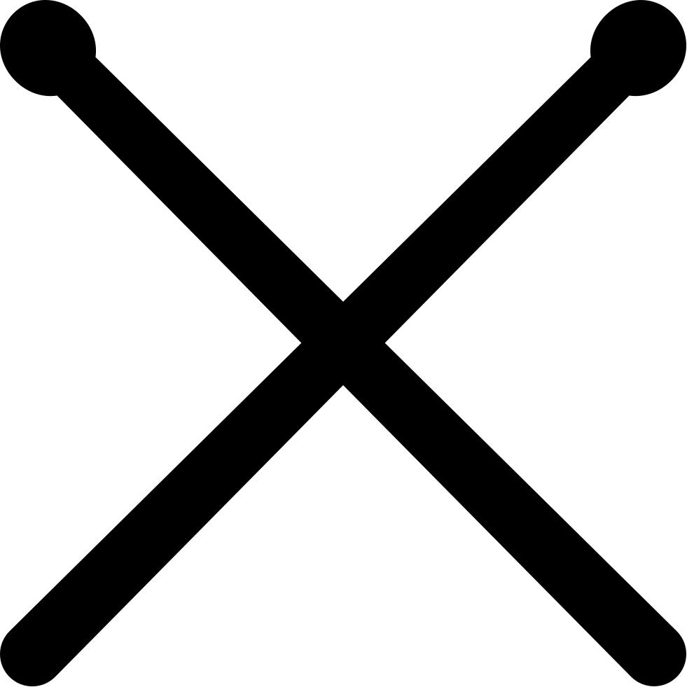 981x981 Drumsticks Svg Png Icon Free Download ( 41596)