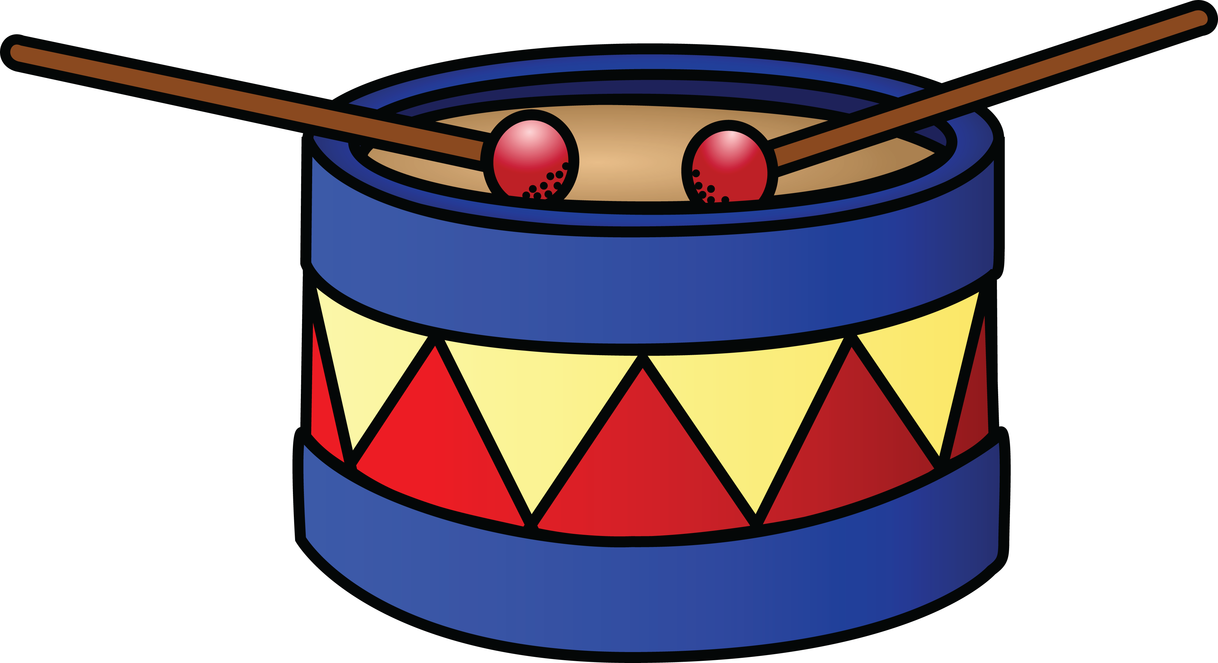 4000x2177 Free Clipart Of A Drum