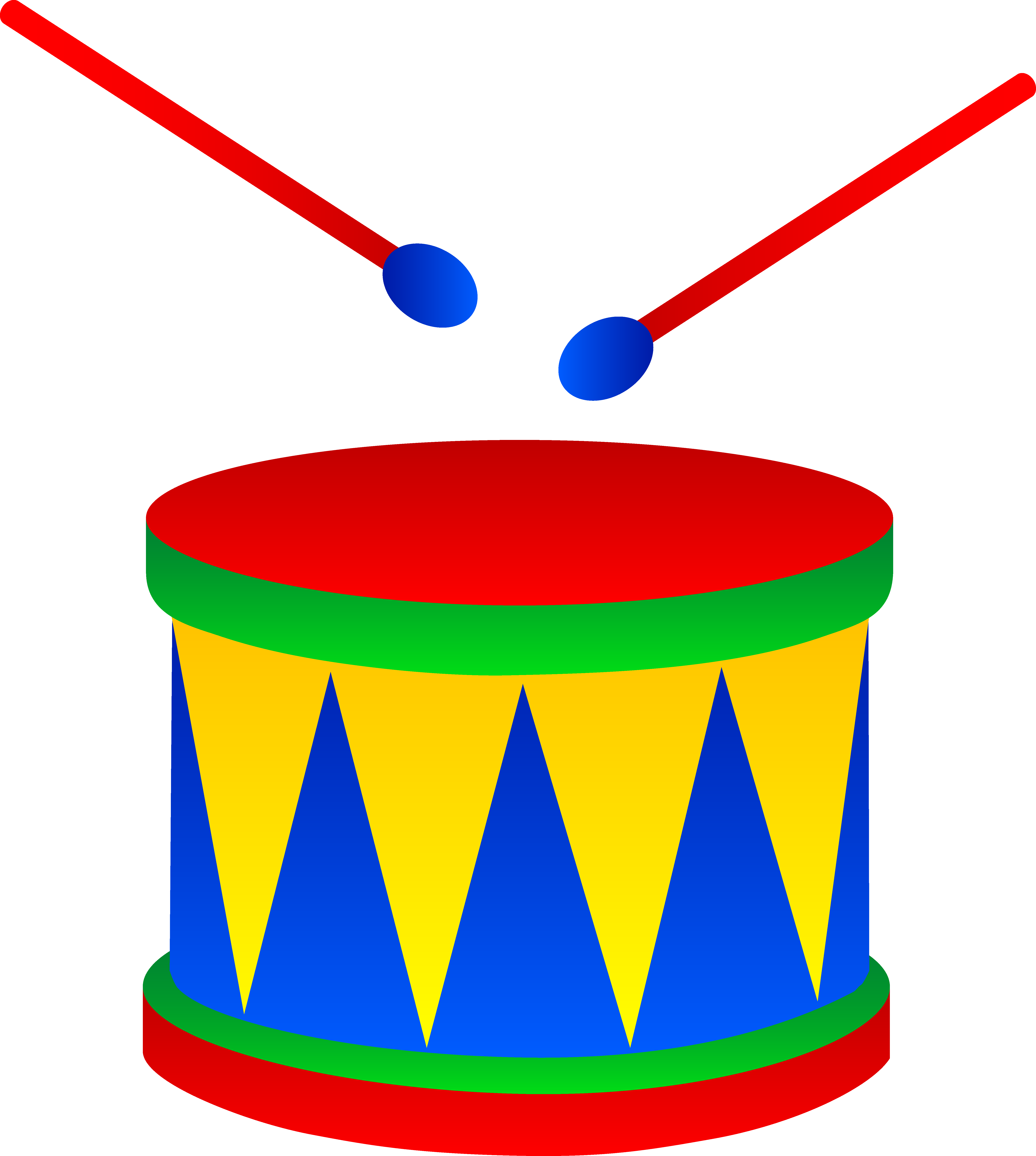 5955x6648 Marching Drum With Drumsticks