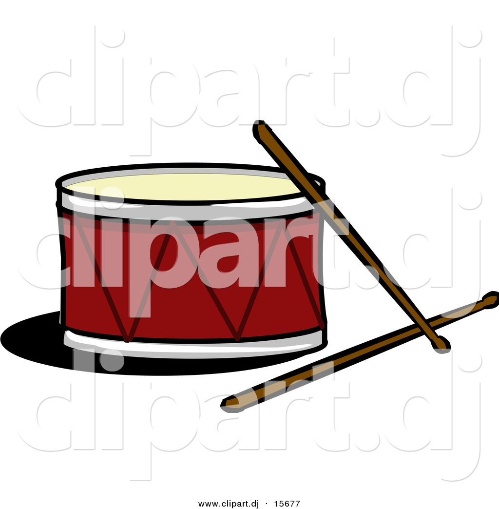 1024x1044 Vector Clipart Of A Drum With Sticks By Cartoon Solutions