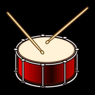 320x320 Drum With Drumsticks Emojidex