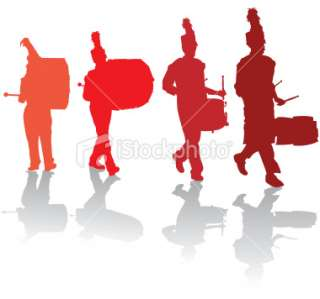 320x299 Marching Drumline Clipart