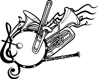 400x322 Marching Drumline Clipart