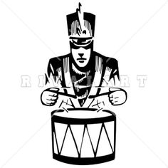 236x236 Sports Clipart Image Of Marching Band Member Playing A Drum Http
