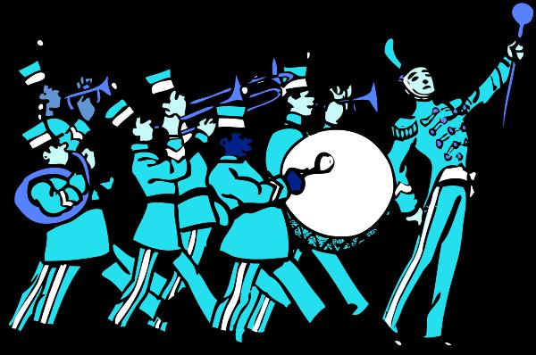 600x398 Blue Uniform Marching Band Clipart