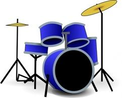 242x195 Drums Clipart