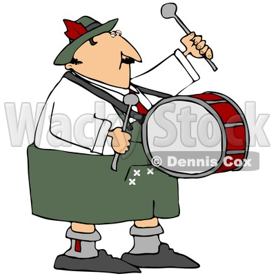 400x400 Free (Rf) Clipart Illustration Of An Oktoberfest Man Banging