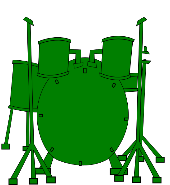 546x595 Green Drums Clip Art