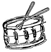 177x180 Snare Drum Clipart