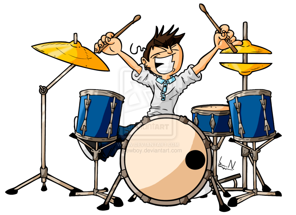 1024x744 The Drummer Playing Drums Cartoon