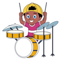 210x199 Boy Clipart Drum