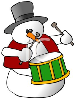 267x350 Christmas Drum Clip Art