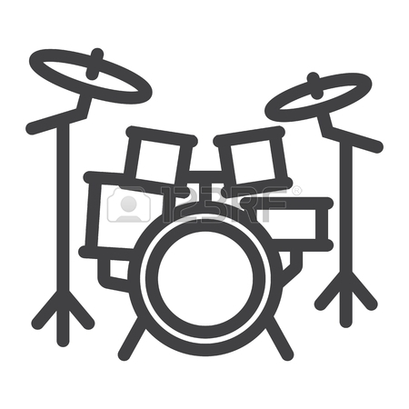 Drums Clipart Black And White