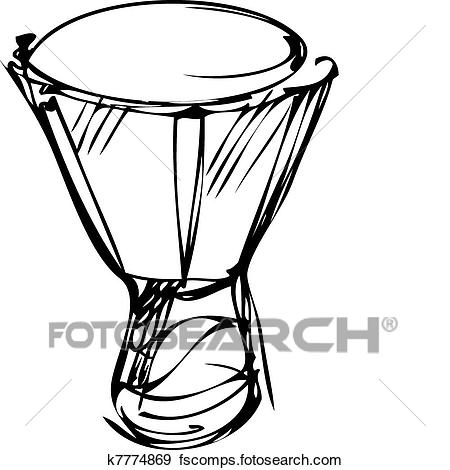 450x470 Clip Art Of Sketch Of Percussion Instruments Orchestra K7774869