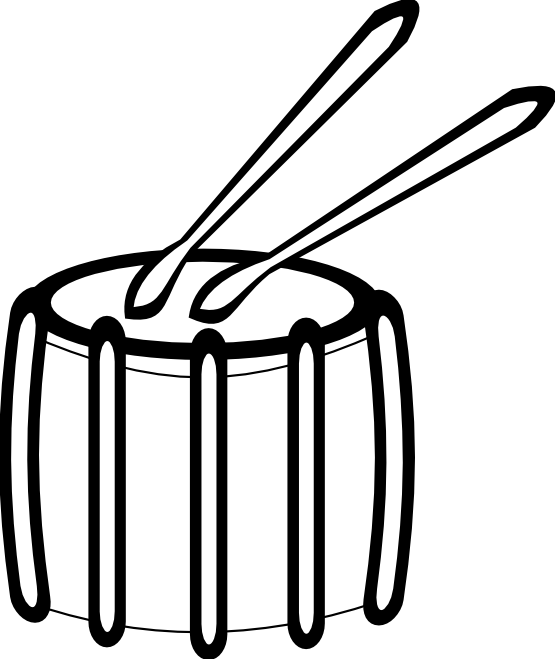 555x659 Drum Black And White Clipart