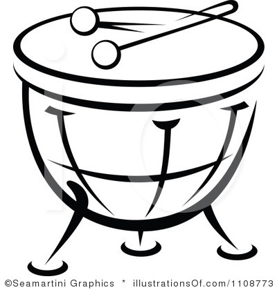 400x420 Drum Set Clipart Black And White Clipart Panda
