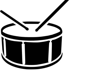 Drums Clipart Black And White | Free Download Best Drums ...