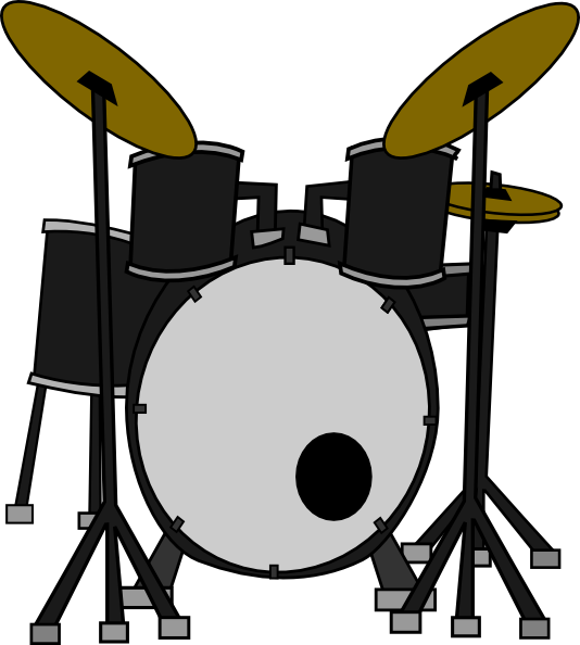 534x594 Black And White Drum Clipart