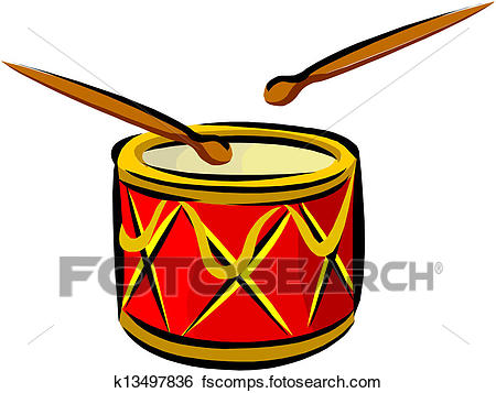 450x357 Clip Art Of Drum And Drumsticks K13497836