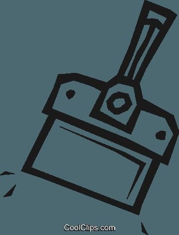 366x480 Drywall Knife Royalty Free Vector Clip Art Illustration Vc048867