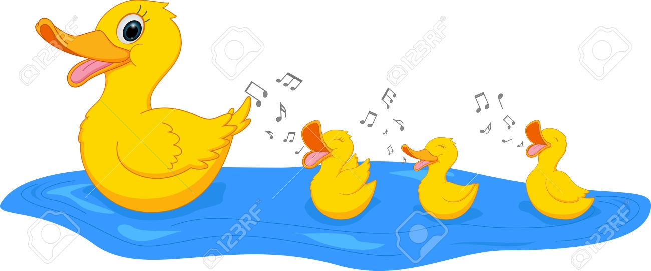 1300x542 Duckling Clipart Mother Duck