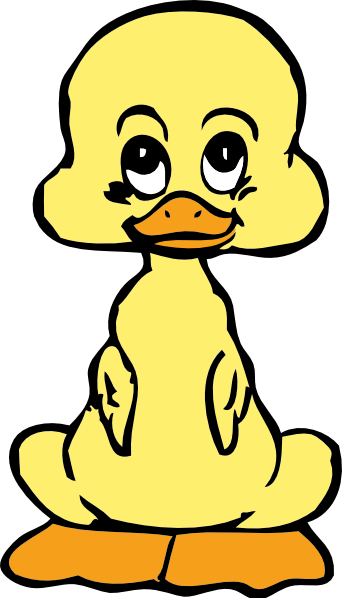 342x598 Baby Duck Clip Art Free Vector 4vector