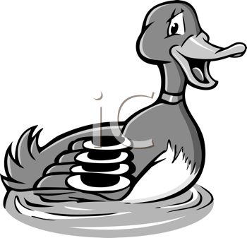350x337 Royalty Free Clip Art Image Black And White Cartoon Of A Male