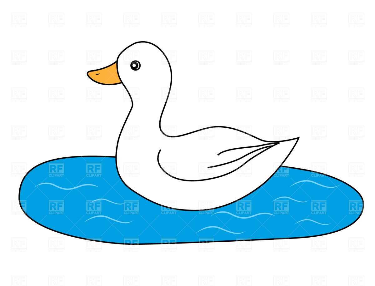 1200x916 White Duck Royalty Free Vector Clip Art Image
