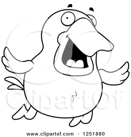 450x470 Black White And Duck Toy Clipart 1878090
