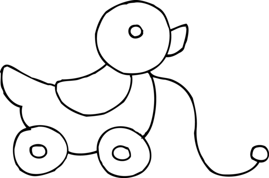 550x364 Toy Clipart Black And White