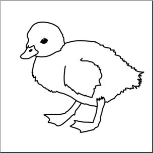 304x304 Clip Art Duckling Bampw I Abcteach