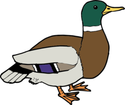 256x215 Free Duck Clipart