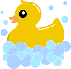 298x291 Rub Duck Bubbles Clip Art