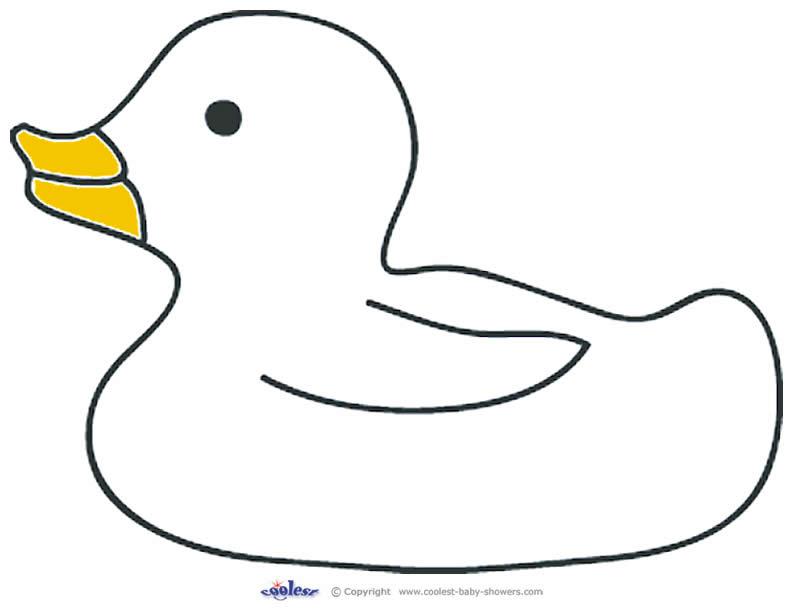 792x612 Printable Duck Template Duck Outline Clip Art
