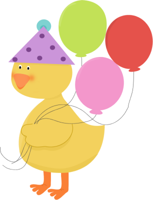 306x400 Birthday Party Duck Clip Art