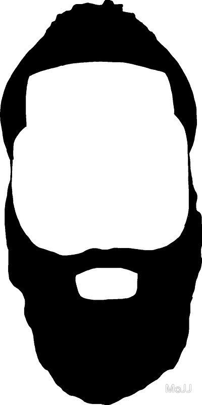 400x800 Beard Clipart Outline