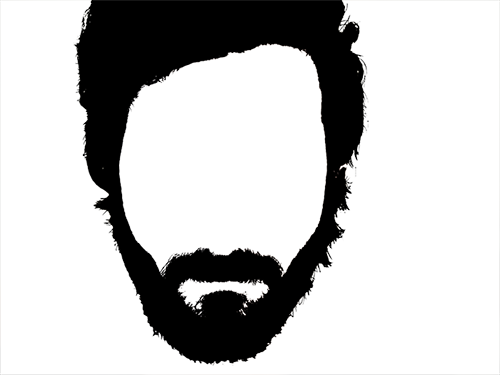 500x375 Beard Clipart Outline