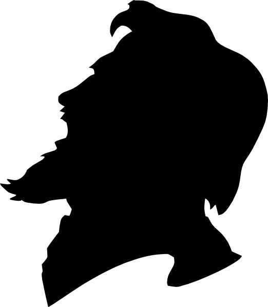 522x598 Man With Beard Clipart Silhouette Clipartfox 4